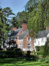 Weymouth Center, located in the Weymouth Heights area of Southern Pines, is the former home of James & Katherine Boyd and their family